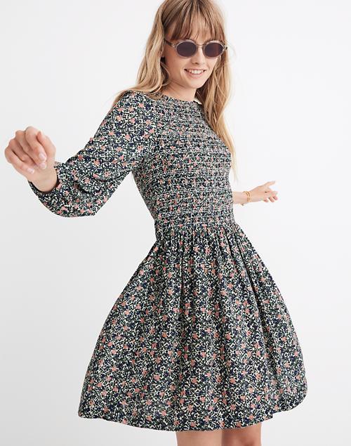 Apiece Apart™ Olivias Smocked Mini Dress by Madewell