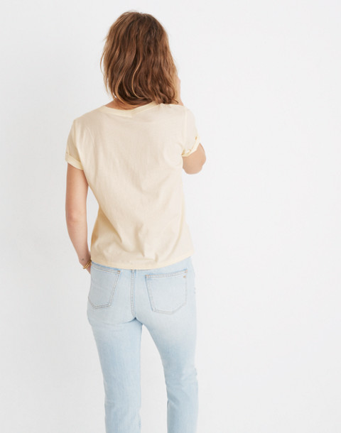 Madewell x Bliss & Mischief® Female Symbol Graphic Tee in pearl ivory image 3