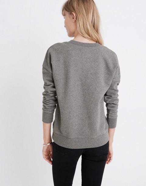 Madewell x Bliss & Mischief® Woman of the Hour Sweatshirt in heather metal image 3