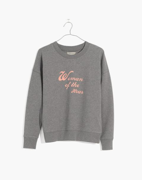Madewell x Bliss & Mischief® Woman of the Hour Sweatshirt in heather metal image 4