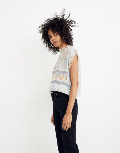 Cecilie Copenhagen Patchwork Norma Top in pearl blue image 2
