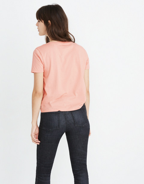 Madewell x Bliss & Mischief® Woman of the Hour Slim Tee in pink oyster image 3