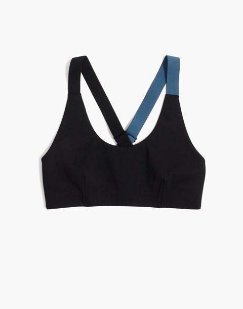 Splits59™ Crossover Sports Bra in black/dusty blue image 4