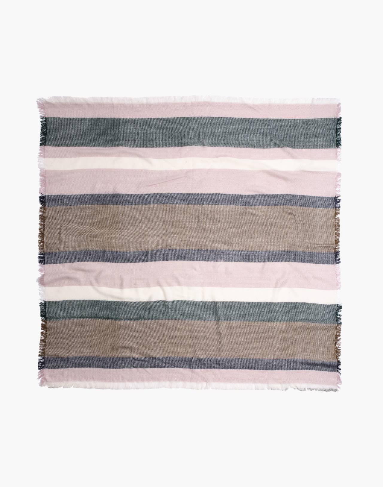 Band Stripe Blanket Scarf in wisteria dove multi image 2