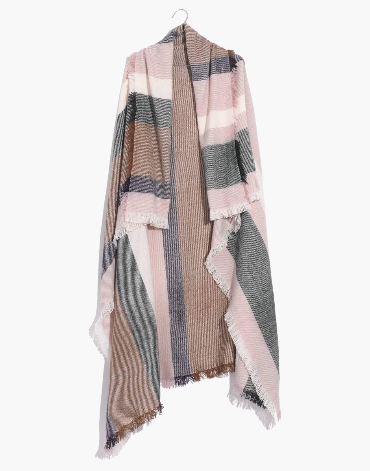 Band Stripe Blanket Scarf in wisteria dove multi image 1
