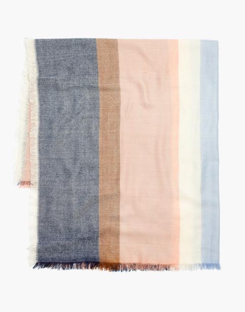 Band Stripe Blanket Scarf in tinted blush multi image 2