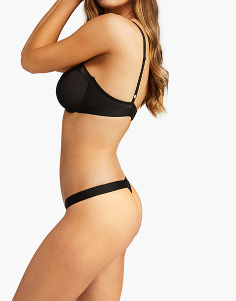 Negative® Sieve Thong in black image 2