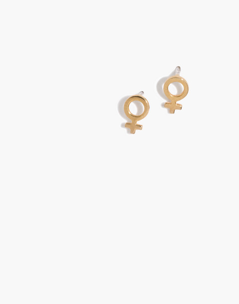 Madewell x Girls Inc. Vermeil Female Symbol Stud Earrings in vermeil image 1