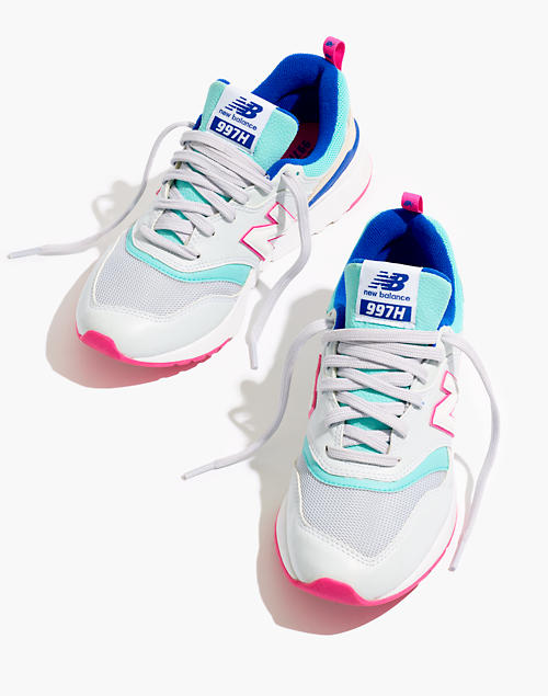 42b4ce59bbd47 New Balance® 997H Classic Sneakers in Leather and Mesh in white ...
