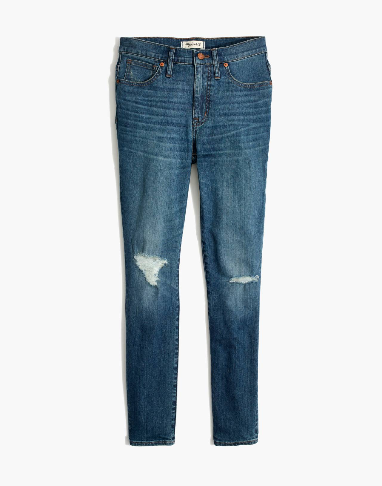 "9"" High-Rise Skinny Crop Jeans in Delmar Wash: Eco Edition in delmar wash image 4"