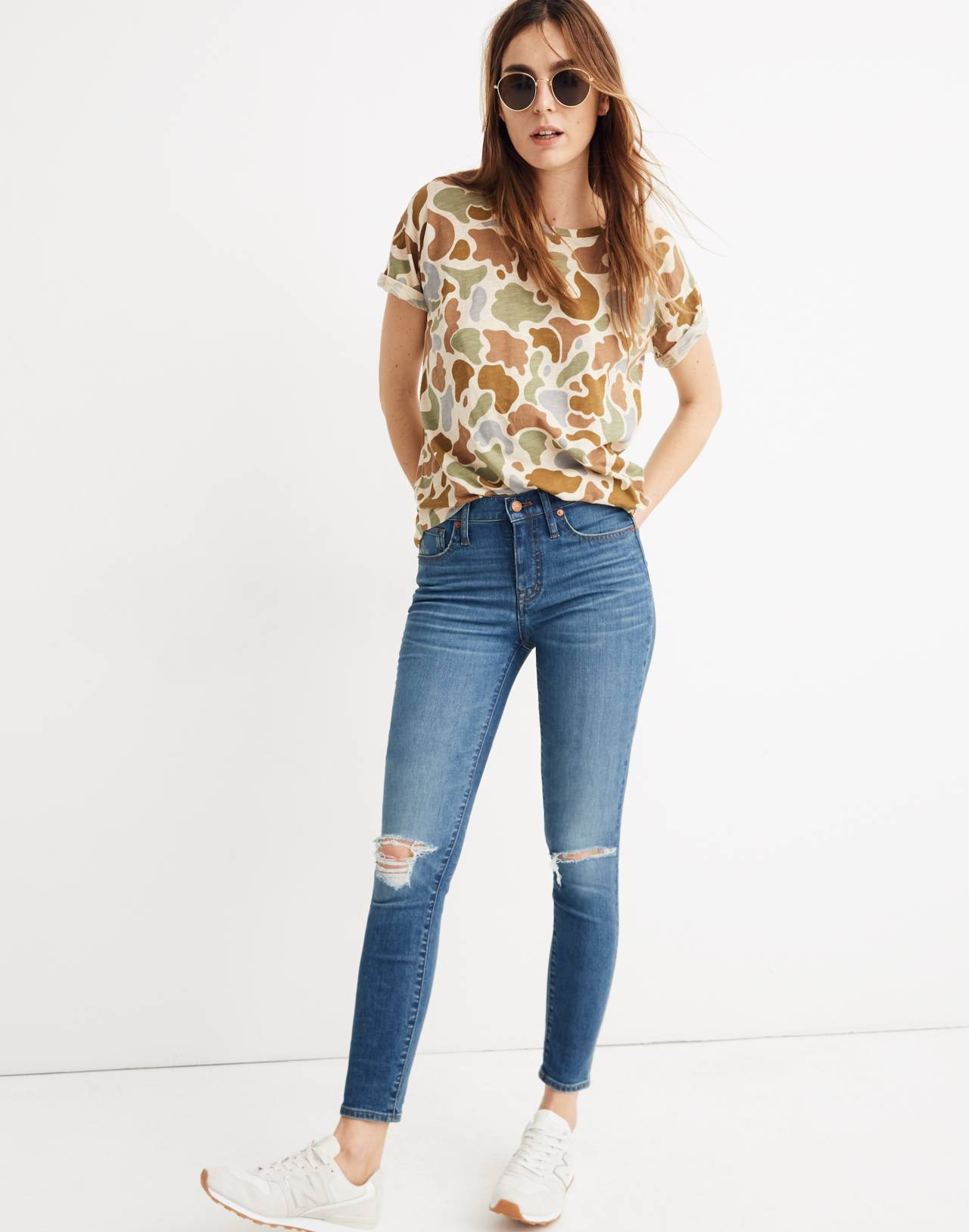 "9"" High-Rise Skinny Crop Jeans in Delmar Wash: Eco Edition in delmar wash image 1"