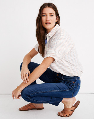 """10"""" High-Rise Skinny Crop Jeans: Button-Front Tencel™ Edition in hayden wash image 2"""