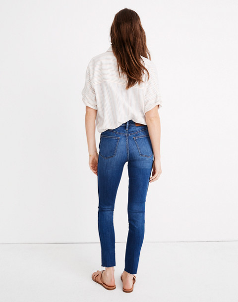"""10"""" High-Rise Skinny Crop Jeans: Button-Front Tencel™ Edition in hayden wash image 3"""