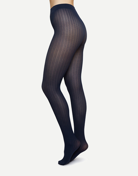Swedish Stockings™ Alma Rib Tights in blue image 2