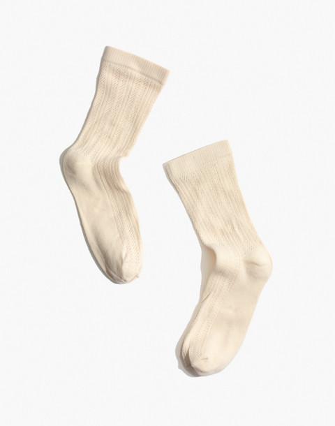 Swedish Stockings™ Klara Knit Socks in white image 1