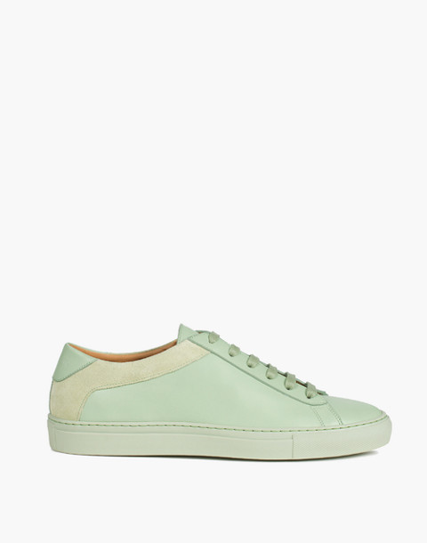 Unisex Koio Capri Menta Low-Top Sneakers in Mint Leather in green image 3
