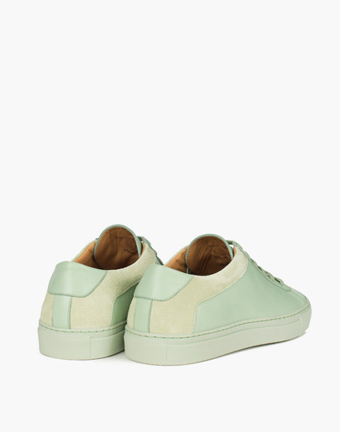 Unisex Koio Capri Menta Low-Top Sneakers in Mint Leather in green image 4