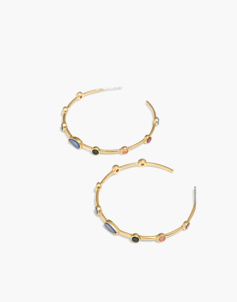 Finespun Hoop Earrings in vintage gold image 1