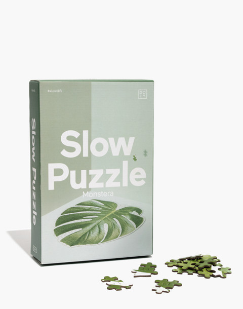 Doiy Design™ Monstera Leaf Slow Puzzle in puzzle image 1