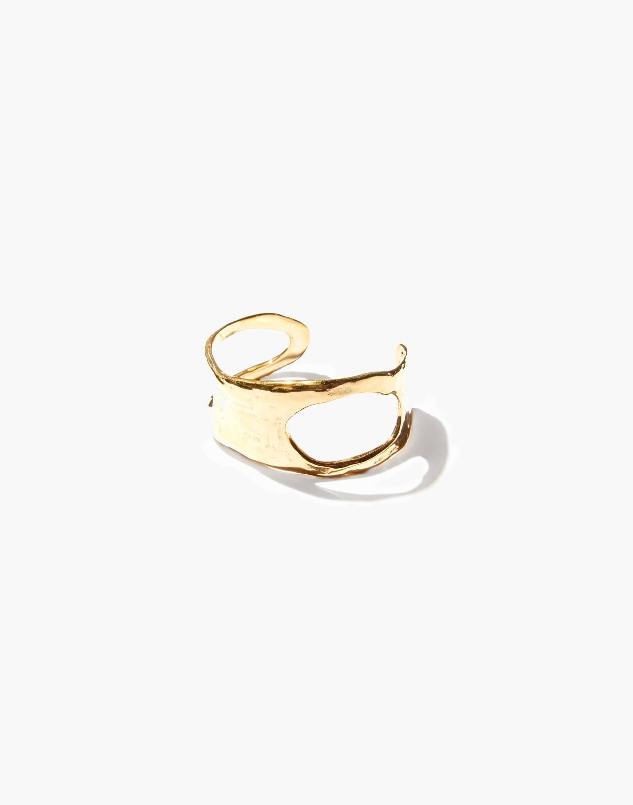 Odette New York® Cutout Lunate Cuff Bracelet in gold image 2