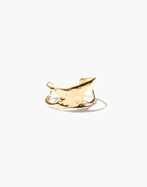 Odette New York® Cutout Lunate Cuff Bracelet in gold image 1