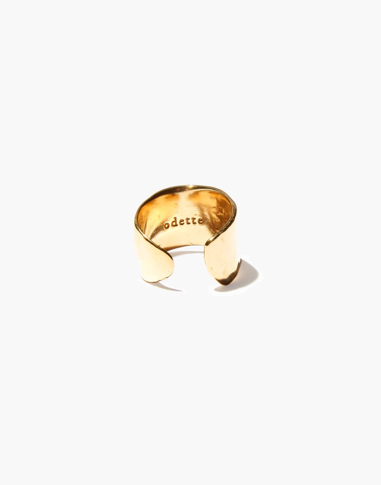 Odette New York® Lunate Open Ring in gold image 2