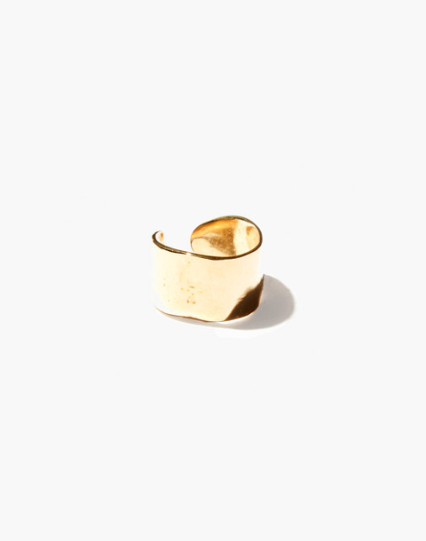 Odette New York® Lunate Open Ring in gold image 1