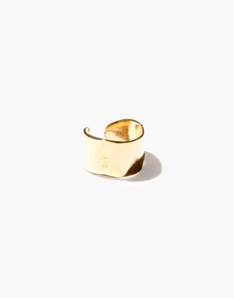 Odette New York® Lunate Open Ring in gold image 1