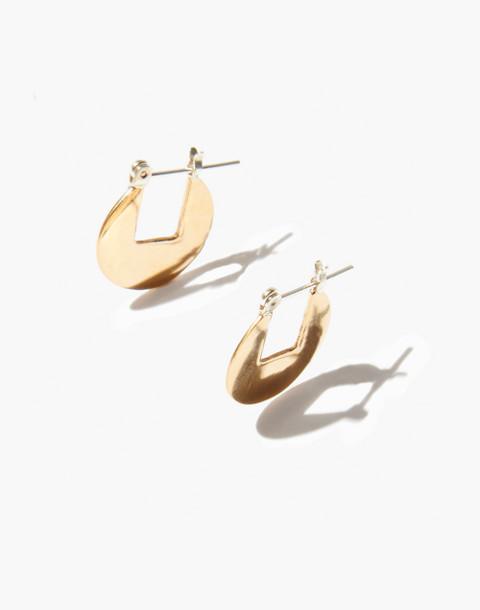 Odette New York® Circular Hoop Earrings in gold image 2