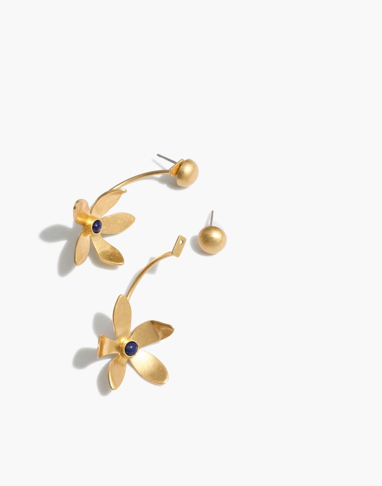 Petalstem Statement Earrings in vintage gold image 1