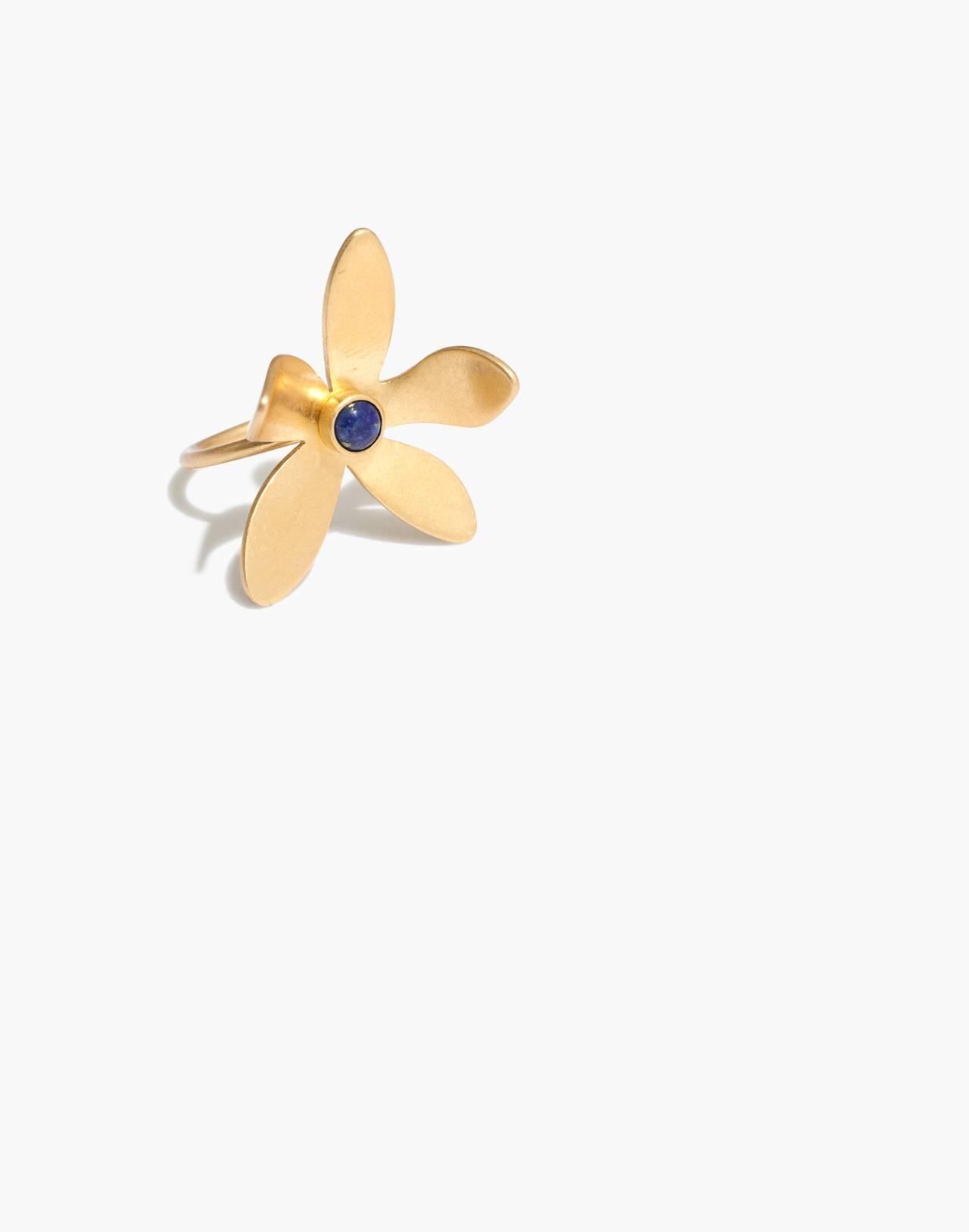 Petalstem Ring in vintage gold image 1