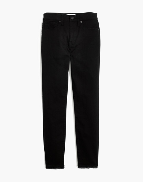 "9"" High-Rise Skinny Crop Jeans in ISKO Stay Black™: Raw-Hem Edition in black frost image 4"