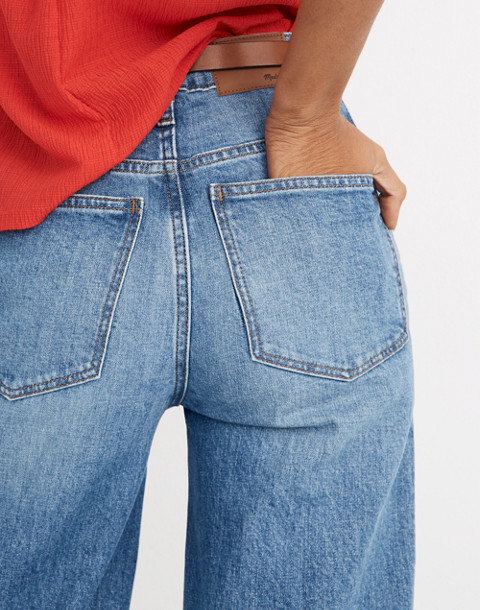 Wide-Leg Crop Jeans in Chesney Wash in chesney wash image 3