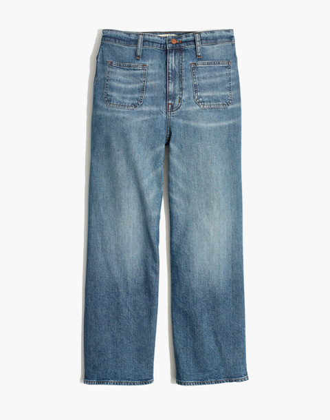 Wide-Leg Crop Jeans in Chesney Wash in chesney wash image 4