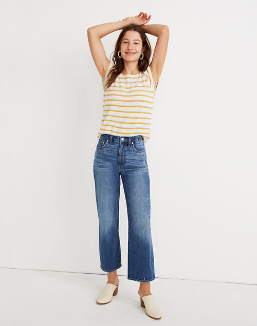 Tall Slim Wide Leg Jeans In Garrett Wash by Madewell