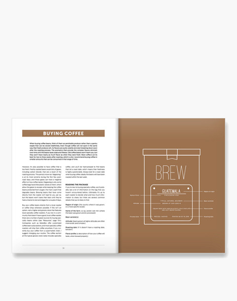W&P™ Brew Coffee Book in white image 3