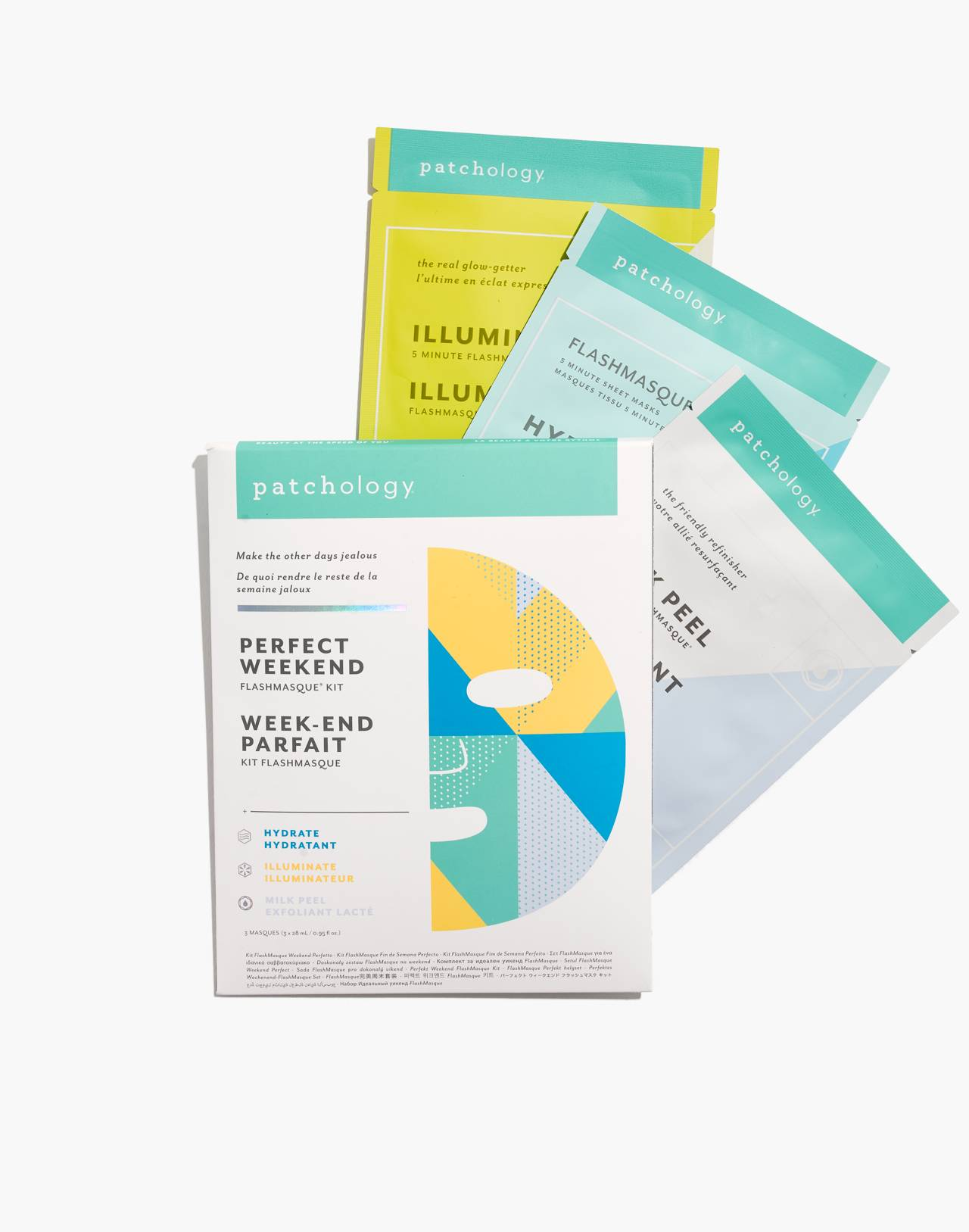 Patchology® Flashmasque® 5 Minute Sheet Masks: Perfect Weekend Trio in trio image 1