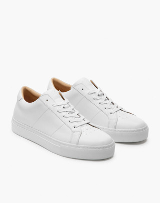 GREATS® Royale Leather Low-Top Sneakers in white image 1