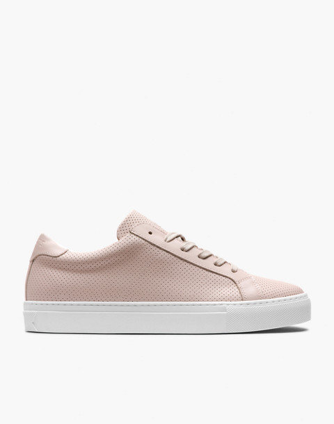 GREATS® Royale Perforated Leather Low-Top Sneakers in pink image 2