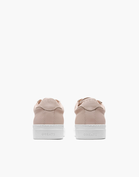 GREATS® Royale Perforated Leather Low-Top Sneakers in pink image 3