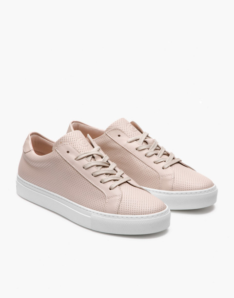 GREATS® Royale Perforated Leather Low-Top Sneakers in pink image 1