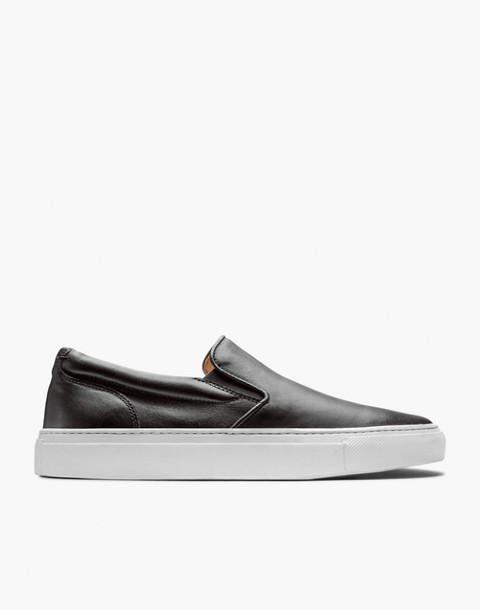 GREATS® Wooster Leather Slip-On Sneakers in black image 2