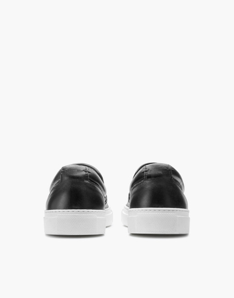 GREATS® Wooster Leather Slip-On Sneakers in black image 3