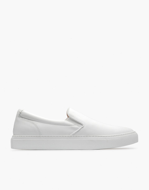GREATS® Wooster Leather Slip-On Sneakers in white image 2