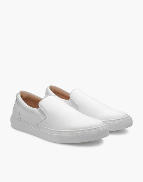 GREATS® Wooster Leather Slip-On Sneakers in white image 1
