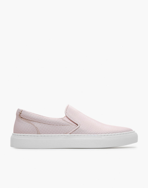 GREATS® Wooster Perforated Leather Slip-On Sneakers in pink image 2