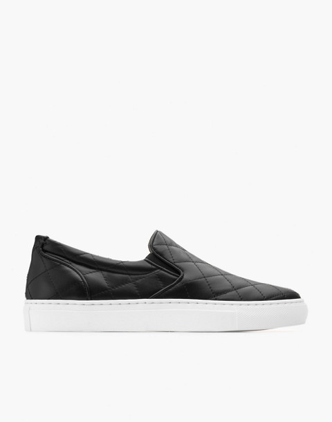 GREATS® Wooster Quilted Leather Slip-On Sneakers in black image 2