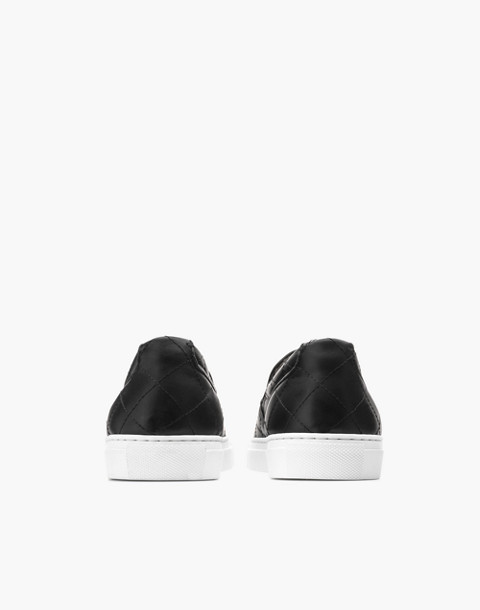 GREATS® Wooster Quilted Leather Slip-On Sneakers in black image 3