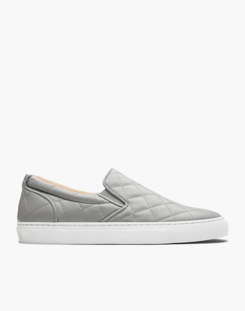 GREATS® Wooster Quilted Leather Slip-On Sneakers in gray image 2