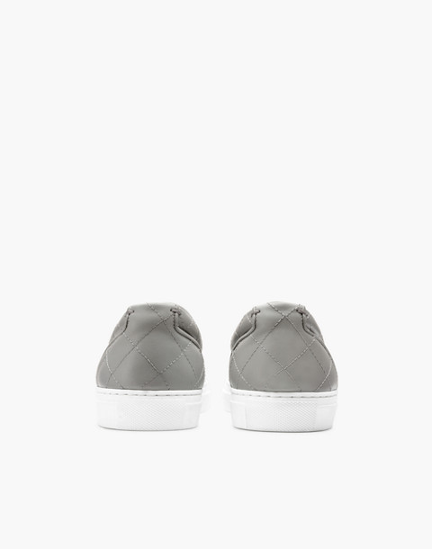 GREATS® Wooster Quilted Leather Slip-On Sneakers in gray image 3